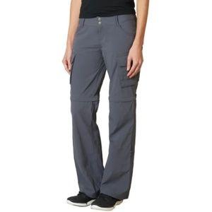 Prana Sage Grey Convertible Cargo Pants